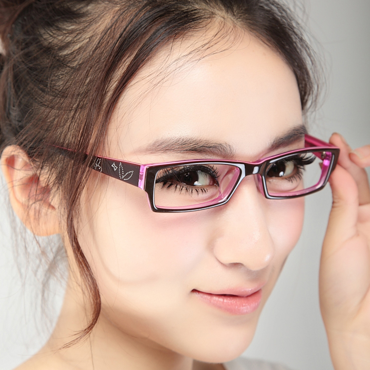 Eyeglass Frames On Models : Full frame sheet glasses myopia Women ultra-light glasses ...
