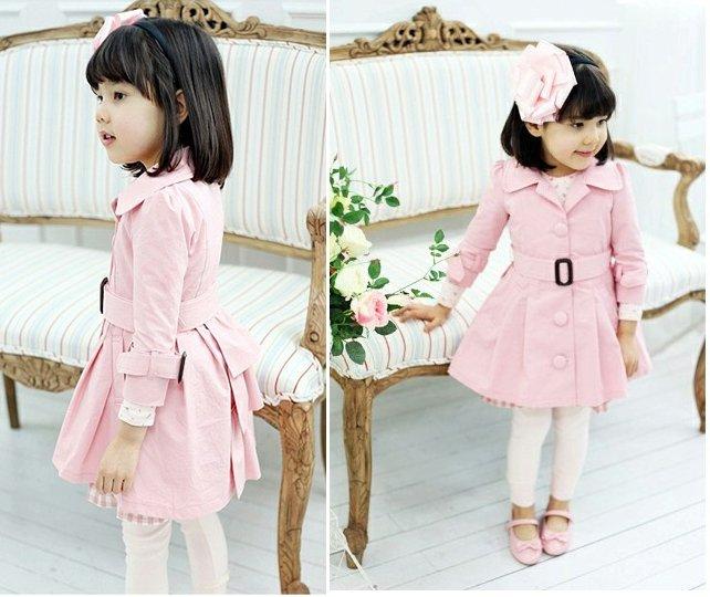 girl's coats fashion girl's outwears Trench coats ,5pcs/lot mix size,free shipping