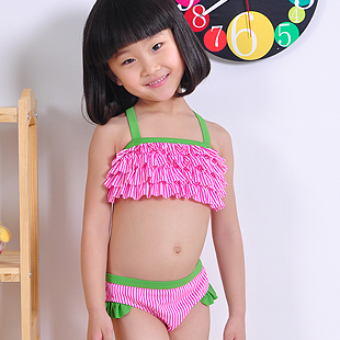 Girl's swimming clothes fashion swimwear kids swimsuits