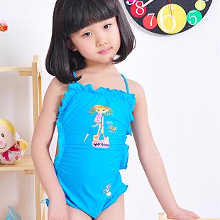 Girls' beach wear Child swimwear kids swimsuits