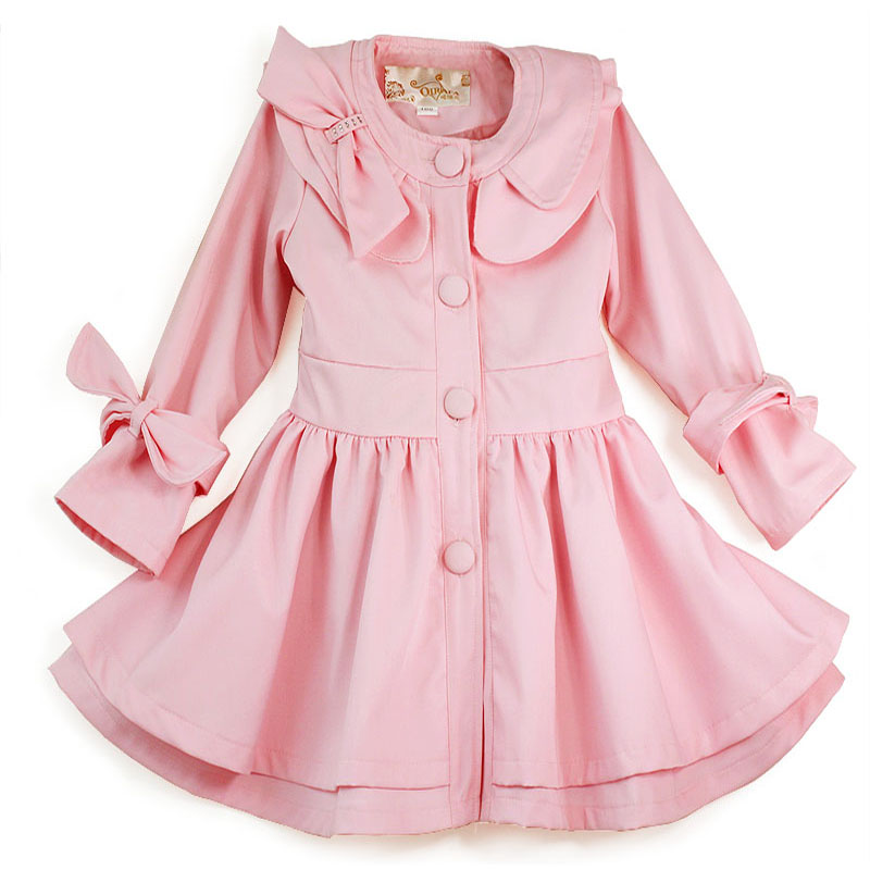 Girls clothing 2012 female child winter child outerwear overcoat child trench 0950