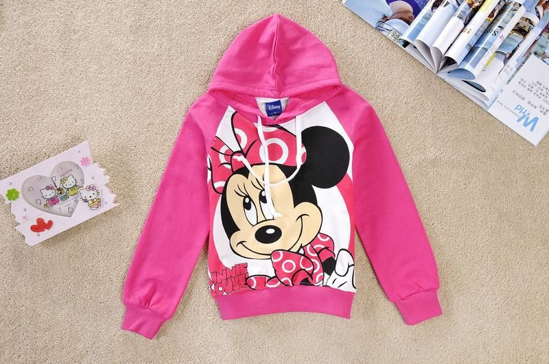 girls hoodies kids sweatshirts,children cartonn minnie long sleeve t shirts,6pcs/lot mix full size,free shipping
