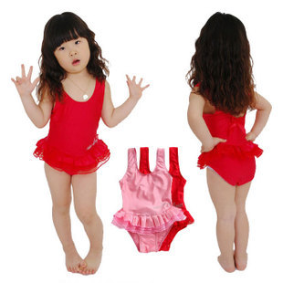 Glitter ballet dress one piece child swimwear female child swimwear baby swimsuit baby dance clothes