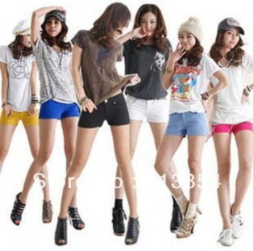 Global new high-grade pure cotton candy color color mailed three minutes of pants hot pants and shorts