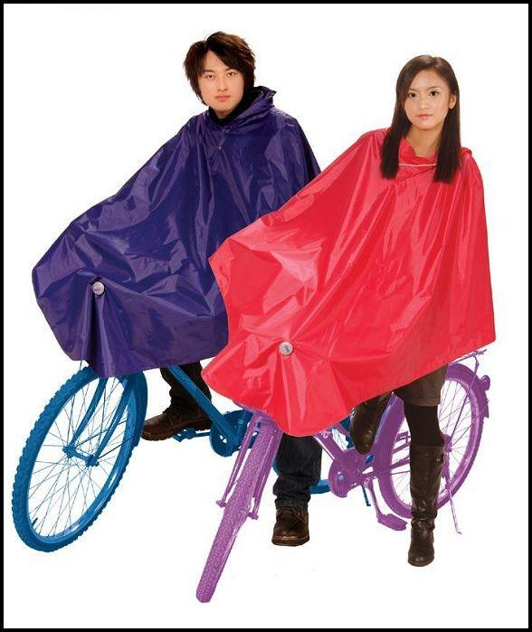 Globalsources double faced adhesive poncho rain gear broadened oversize bicycle raincoat