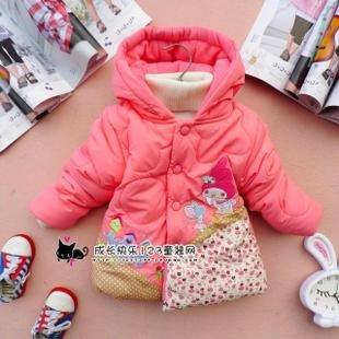 Good quality/ Children's cartoon fawn cashmere winter coat sleeve fashion baby coat girl's coat baby jacket