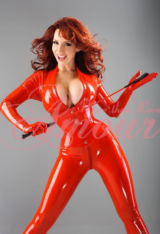 Goth Punk Red Wetlook PU Vinyl Like Zipper Catsuit Playsuit Romper Stripper Wear Free Shipping @QY1212