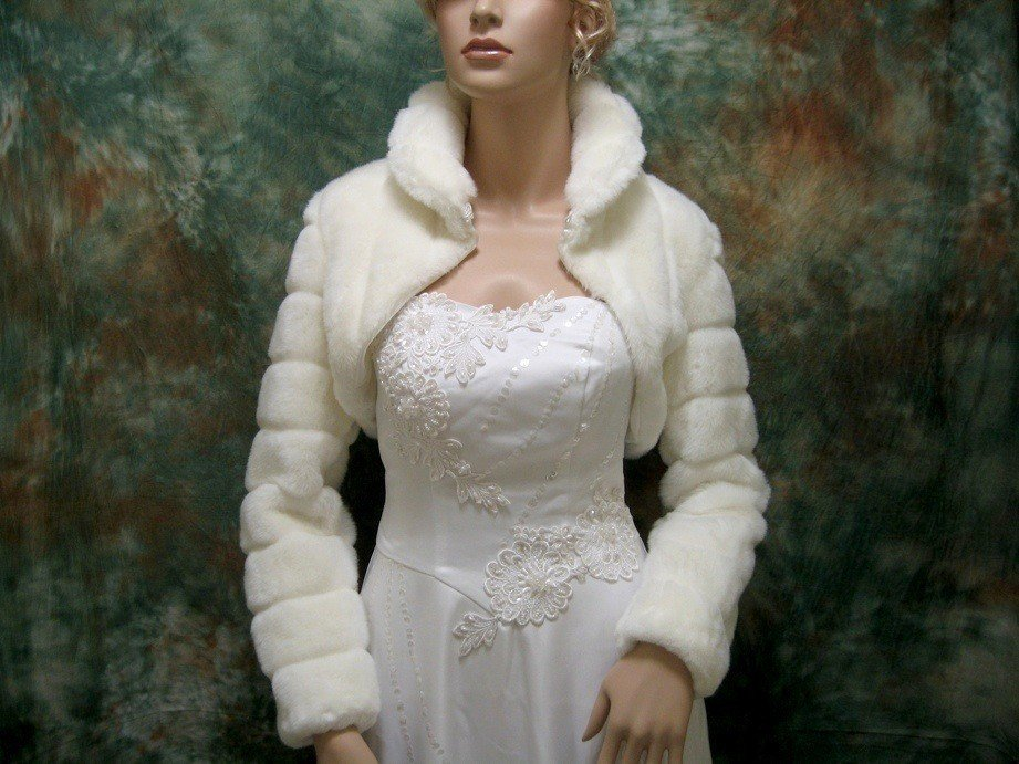 grade elegant  wool fashion custom Bridal Wedding bolero Jacket hot custom Long sleeve stand collar