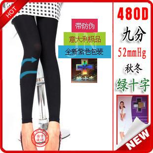 Green cross thickening pantyhose autumn and winter 480d leg socks stockings lace stovepipe socks female legging socks