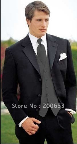 Groom Tuxedos Best man Suit Wedding Groomsman/Men Suits Bridegroom (Jacket+Pants+Tie+Vest) A284
