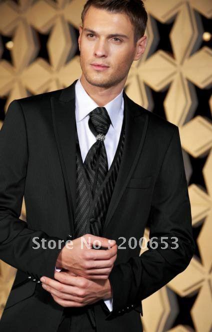 Groom Tuxedos Best man Suit Wedding Groomsman/Men Suits Bridegroom (Jacket+Pants+Tie+Vest) A9