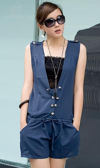 Han edition loose big yards sleeveless female summer wear pants hot pants and even joined even dress shorts
