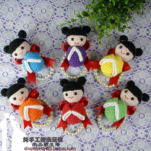 Hand flower diy handmade hook needle dolls bride and bridesmaids wedding gift flower wedding supplies doll