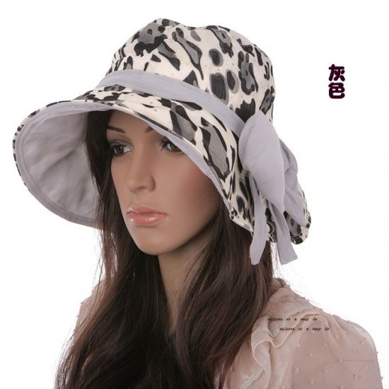 Hat female summer hat bow folding big along sunbonnet summer elegant fashion cap