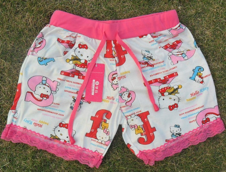 Hello Kitty Fashion Women's Casual Cool Sport Rope Short Pants Jogging Trousers