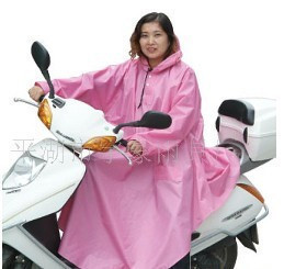 Herosoft 888 single electric bicycle raincoat thick poncho with sleeves plus size lengthen