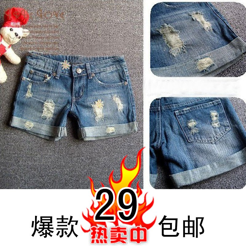 Hifu shorts female denim shorts vintage denim shorts summer shorts jeans