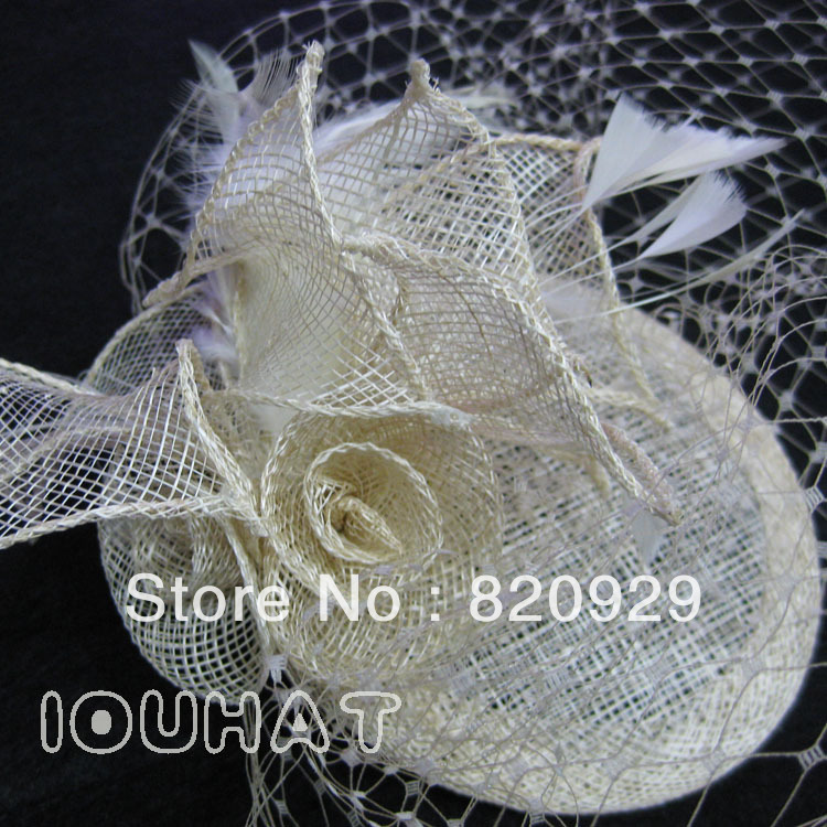 High-end hair accessories hat spring summer bride hat