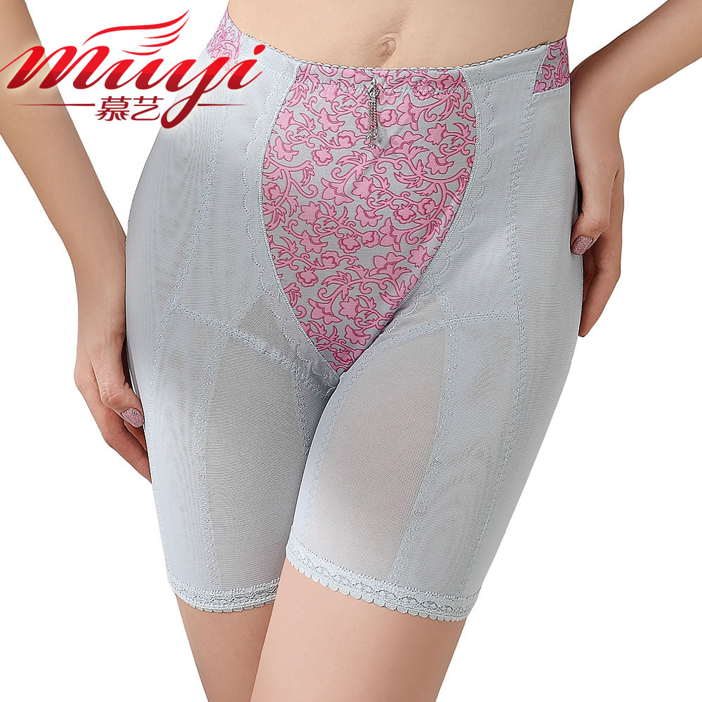 High in the waist thin body shaping beauty care pants waist abdomen drawing butt-lifting corset pants breathable fat burning