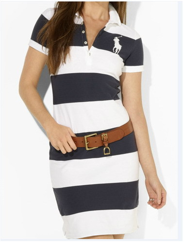High Quality 2013 Fashion Polo T-shirt Dress For Women Cotton Skirt One-Piece Brand New Casual Designer In Summer