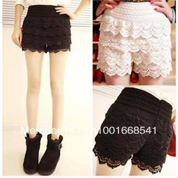 High Quality New Sexy Fashion Mini Lace Tiered Short Skirt Under Safety Pants Shorts
