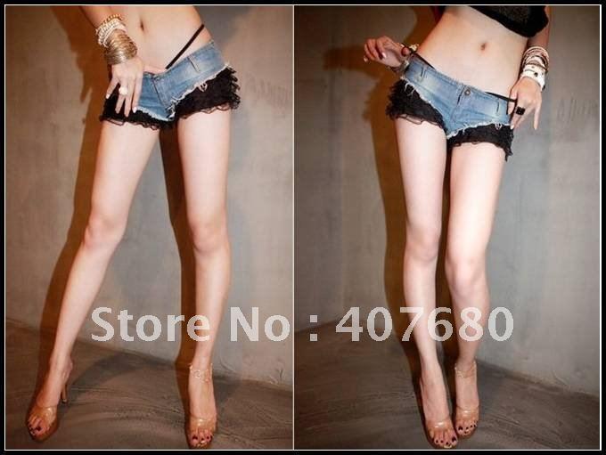 high quality women's fashion sexy nightclub hot shorts low waist lace match hiphop street dancing shorts.