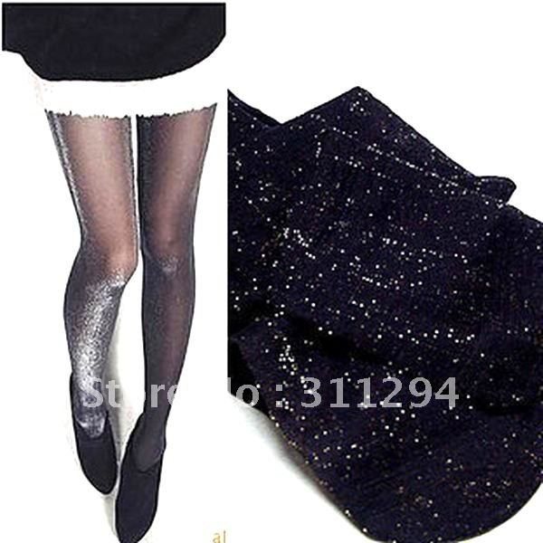 High stretchy flash silk stocking Tights  lady's sexy pantyhose 12pairs/lot Free Shipping
