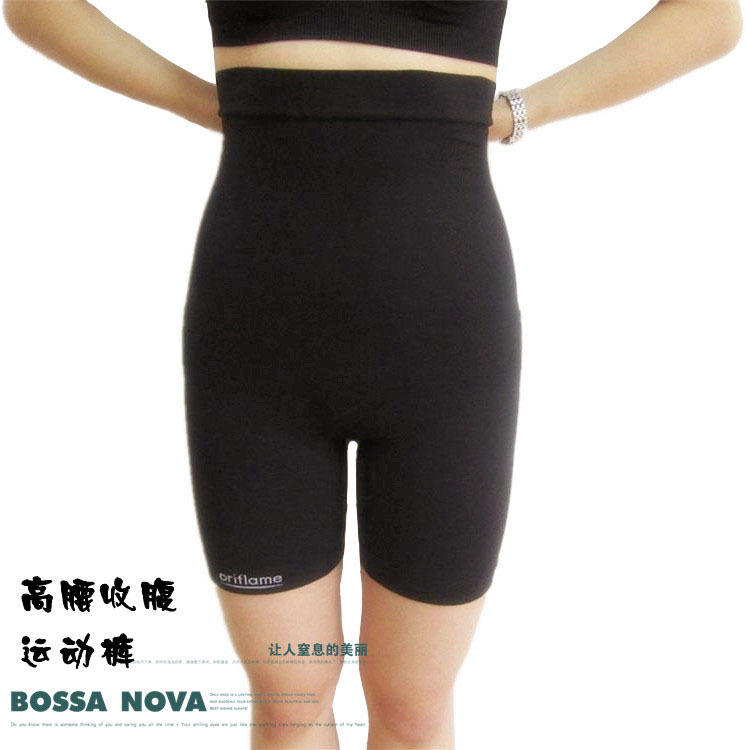 High waist butt-lifting body shaping pants butt-lifting pants shorts pants abdomen drawing corset pants plus size female safety