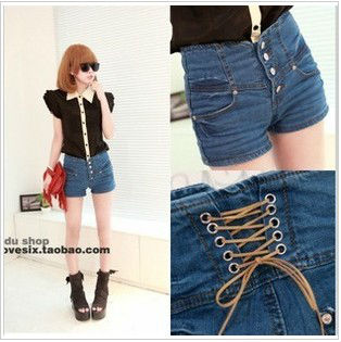 high waisted denim shorts GS12