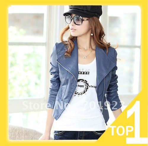 Holiday Sale Cultivate one's morality short fur women jacket pu leather fashion ladies' jacket, Free shipping Y4019