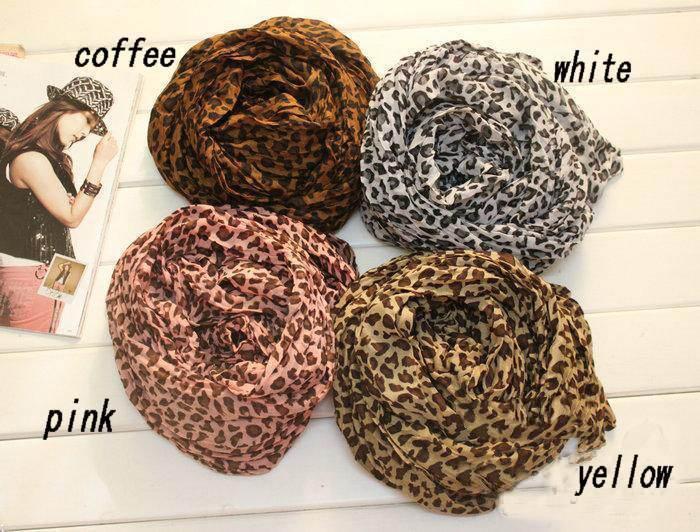 HOT Fashion Animal Print Shawl Leopard grain scarf Cotton Blends  Free Shipping