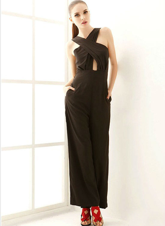 HOT! free shipping fashion woman dress Waist Jumpsuits 2013 Spring Europe Runway Fashion Show  Jumpsuits & Rompers hot selling