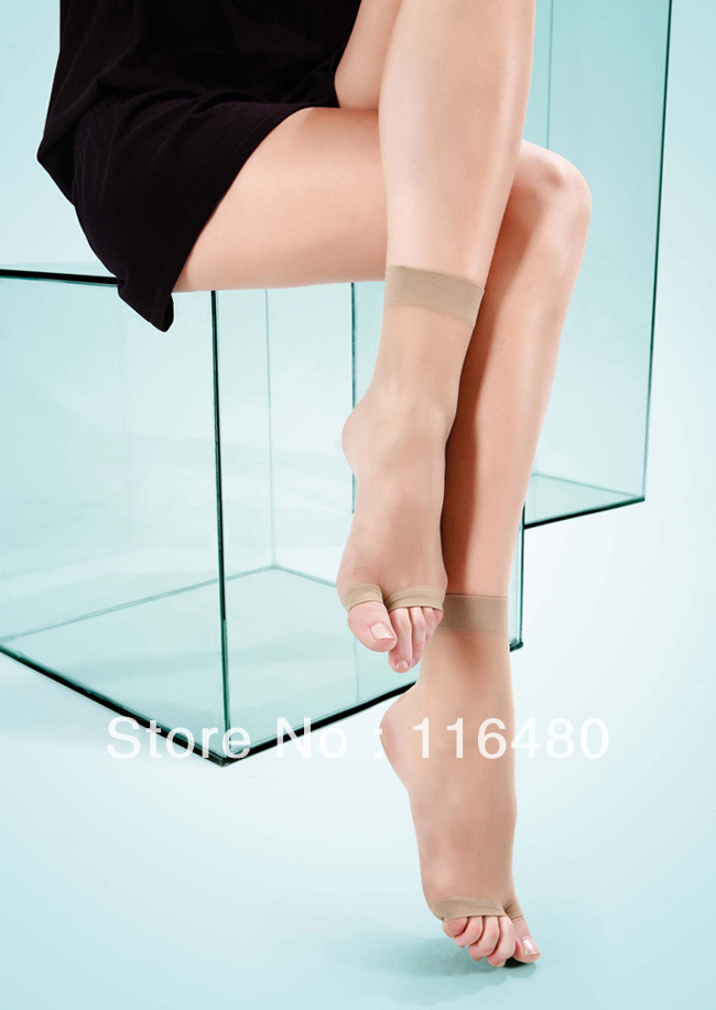 Hot!  High Quality Sexy Socks Black/ Nude/ Coffee/Gray Ultra-thin Tights With Open Toe Shoes (10 pairs/ Lot)  828