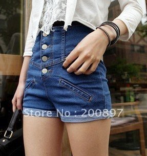 Hot Retail Sexy High waisted denim shorts women fashion shorts Free shipping