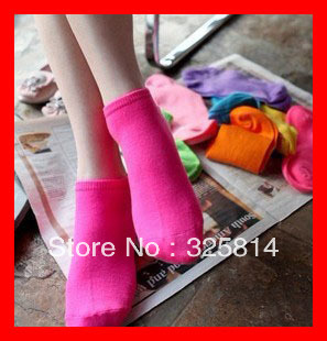 hot sale 10pairs/lot Candy Colors Women socks Fashion lowest price high quanlity anklets female boat sock free shipping