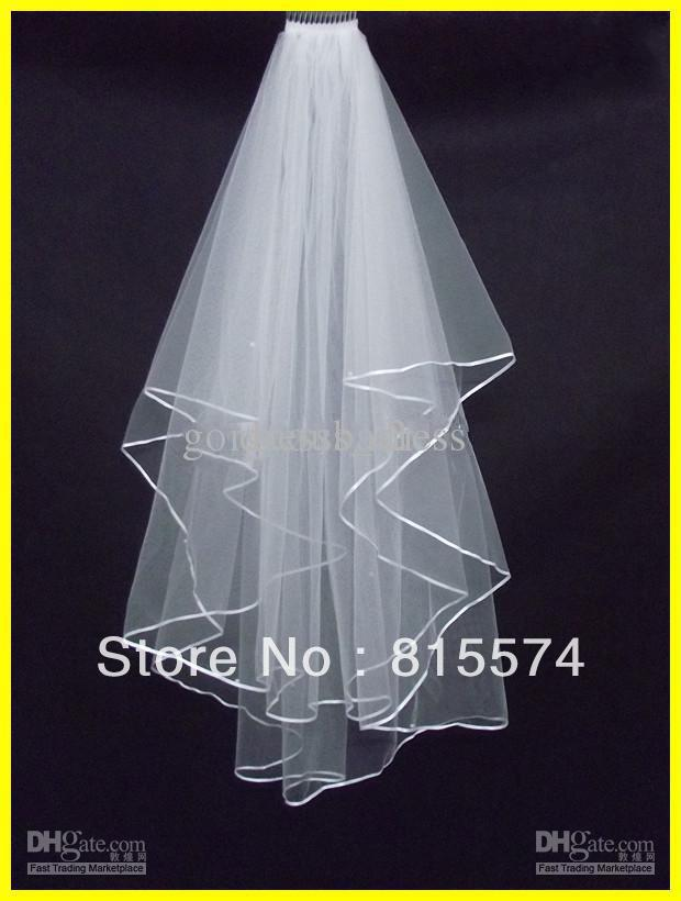Hot sale 2 LAYERS White bridal wedding veil Wedding Veil Bridal Veil With Comb Bridal Accessories