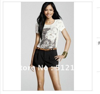 Hot Sale! 2012 New Brand WomenClothes Fashion Shorts for Women, Hot Pants, Leisure Shorts, Free Shipping