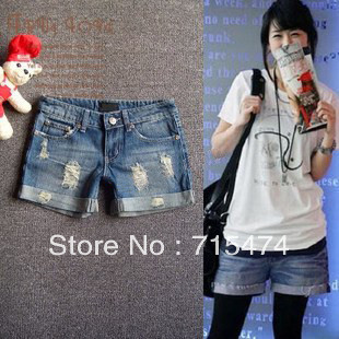 hot sale!!! 2013 Lady denim shorts,women's jeans shorts,hot sale ladies' denim short pants size:S M L,XL,XXL,free shipping