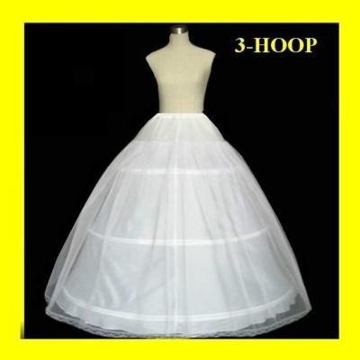 Hot sale 50% off  3 HOOP Ball Gown BONE FULL CRINOLINE PETTICOAT WEDDING SKIRT SLIP NEW H-3