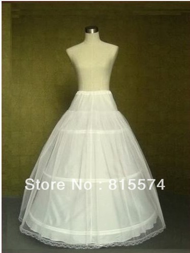 Hot sale  50% off  Cheap white 3 Hoop wedding dresses Petticoat Underskirt Crinoline