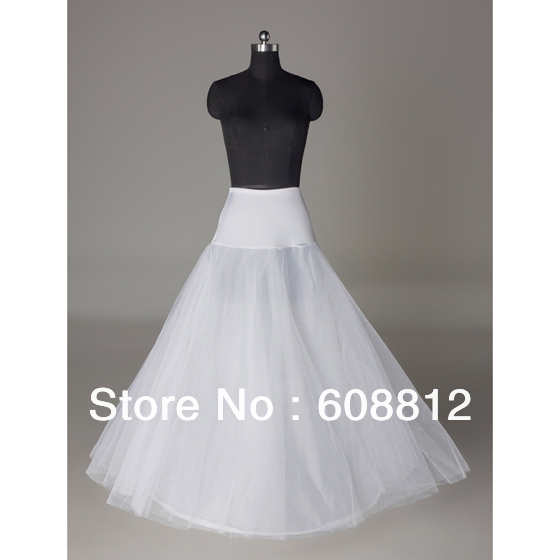 Hot sale Cheapeat Free shipping In Stock A-Line One Hoop Wedding Petticoat Bridal Underskirt Crinoline For Wedding Dresses