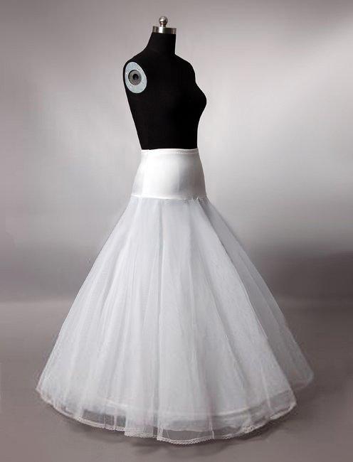 Hot sale Cheapeat Free shipping In Stock A-Line White Wedding Petticoat Bridal Slip Underskirt Crinoline For Wedding Dresses