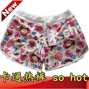 Hot Sale free shipping Elastic waist women's fashionable casual sports pants shorts/ leisure shorts/cartoon pants 10/lot