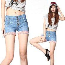 Hot sale! Free shipping Summer hemming pants women's denim shorts hole vintage jeans short pants