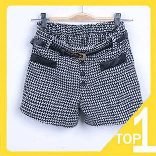 Hot sale! New 2013 Cotton Casual Slim Woolen Warm short pants Patchwork Boots pants(1.5)