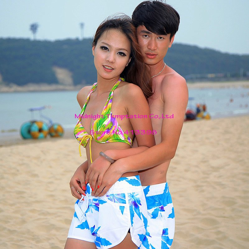 Hot sale!New Fashion Sunshine Lovers Leisure Couple Beach Pants,couple shorts Board Shorts,fashion styles,men and women
