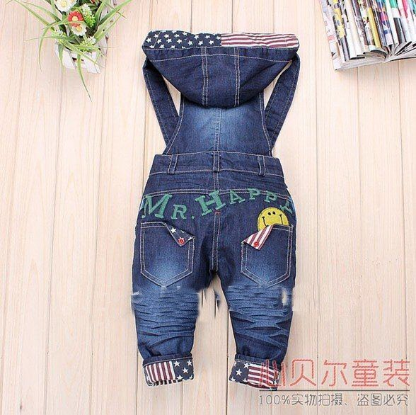 Hot sale Newest Design!! Baby boy/Girls Jeans Overalls Long Trousers Fashion Kids Overall pants