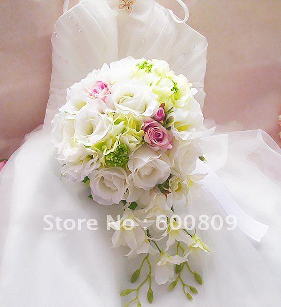 Hot sale Popular artificial flowers Wedding Bouquet,Throw Bouquet, Bridal Bouquets