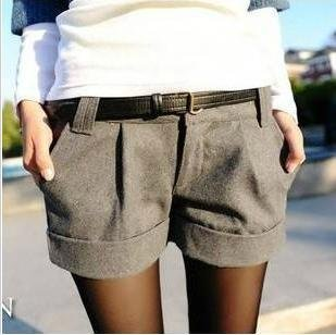 Hot sale ! shorts new  fashion in 2012  All-match crimping wool shorts  19983172388