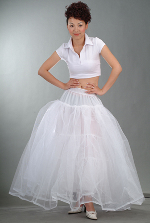 Hot sale White 3-Hoop 1 layers Petticoat/Underskirt/underdress/slip wedding dress petticoat crinoline Bridal Accessories